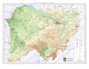 Mapa topografico Salamanca