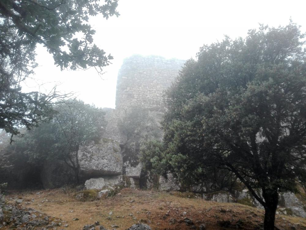 Vista del castillo desde el camino