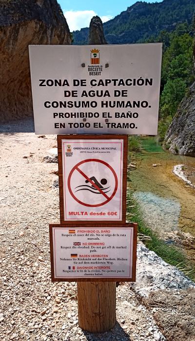 Prohibido bañarse en el Río Matarranya