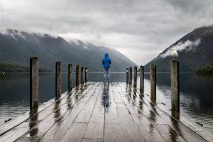 Senderismo bajo la lluvia