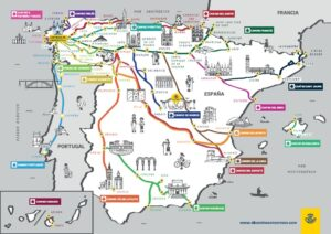 Mapa Caminos De Santiago