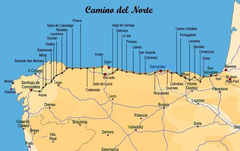 El Camino del Norte es una de las rutas del Camino de Santiago