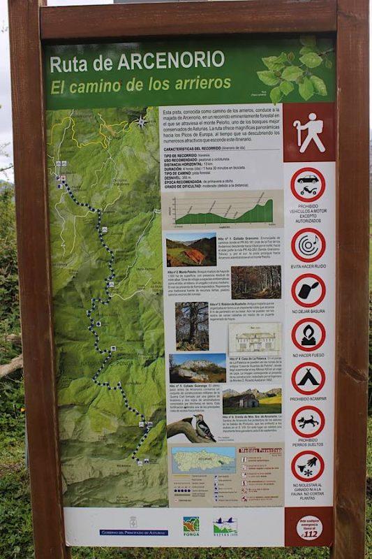 Ruta de Arcenorio Asturias